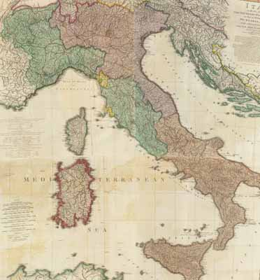 Show A Map Of Italy.Historical Map Of Italy 1800 Discover Your Italian Roots With