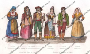 Costumes from all Calabria provinces
